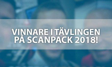 Vinnare i tävlingen på Scanpack 2018 utsedd!