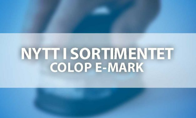 Nytt i sortimentet – COLOP e-mark