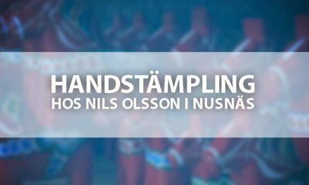 Handstämpling hos Nils Olsson i Nusnäs