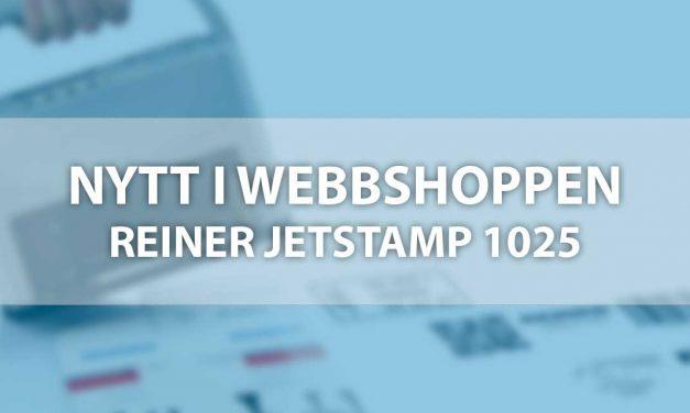 Reiner jetStamp 1025 – Nu i sortimentet